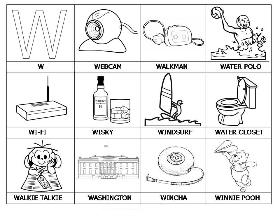 Im genes con w para colorear educanimando - Dibujos para la pared ...