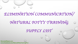 EC/NATURAL POTTY TRAINING SUPPLY LIST