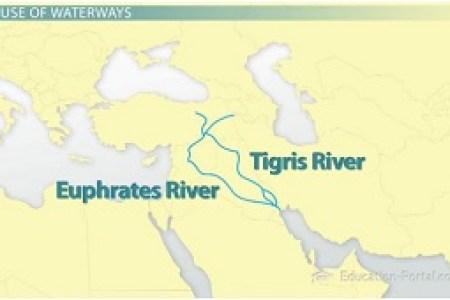 map tigris euphrates
