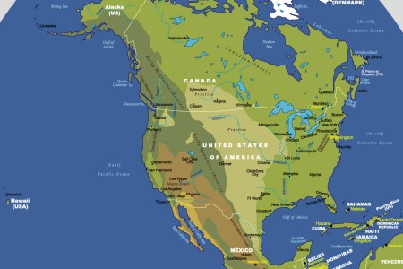 physical map of the united states and caa