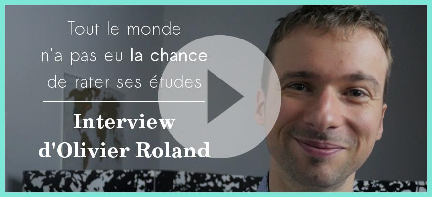 Tout le monde n'a pas eu la chance de rater ses études, le livre d'Olivier Roland
