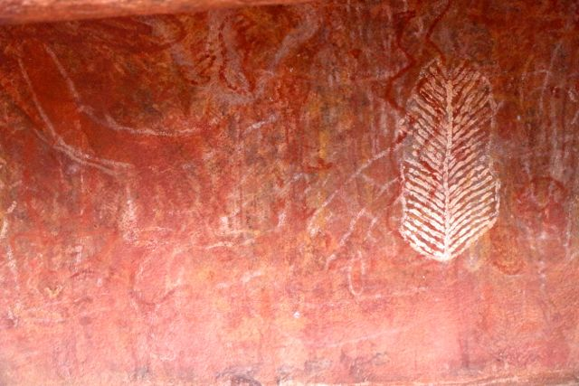 Uluru Cave Painting