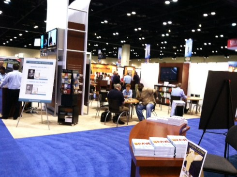 The view from booth #349 at ICRS.