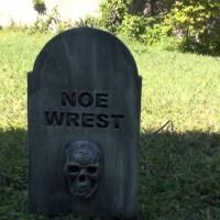 Restless Tombstone Animated Halloween Prop