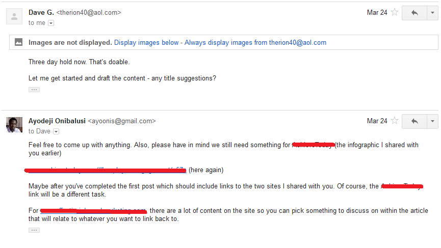 Discussion followed via email 4
