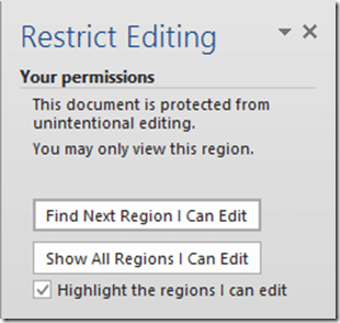 Restrict Editing options
