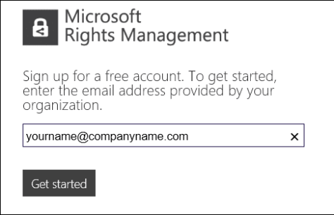 protect confidential data with Microsoft Rights management