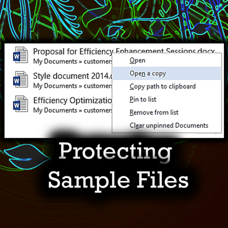 Protecting sample files