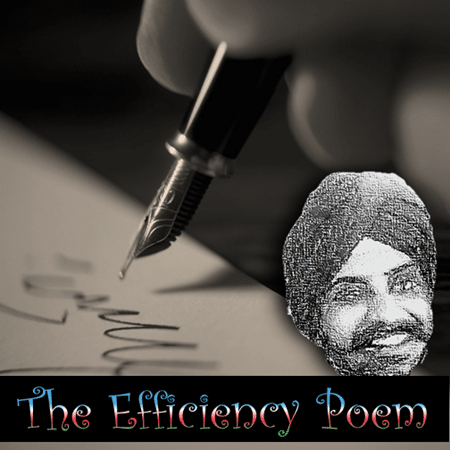 the Efficiency Poem written for Dr. Nitin Paranjape