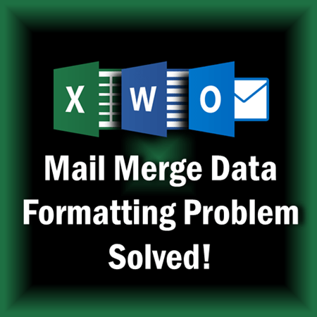 mail merge data formatting problem - Dr. Nitin paranjape