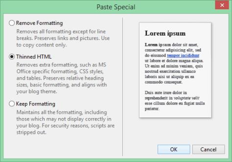 Windows Live Writer Paste Special - Dr. Nitin Paranjape