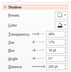 Shadow Settings