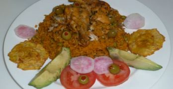 Arroz Con Pollo with a Caribbean and Indian Touch