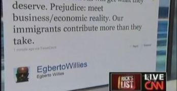 Egberto on CNN Rick Sanchez – Immigration Tweet
