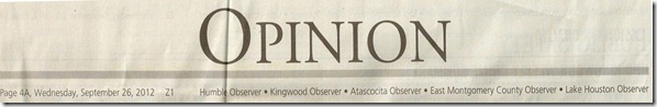 Kingwood Observer (Opinion)