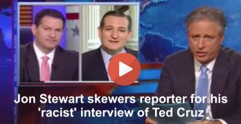 Jon Stewart skewers journalist Mark Halperin for 'racist' Ted Cruz interview (VIDEO)