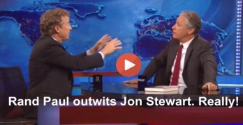 Rand Paul turns the table on Jon Stewart. Really! (VIDEO)