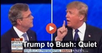 Donald Trump tells Jeb Bush to hush and he does at GOP Debate (VIDEO)