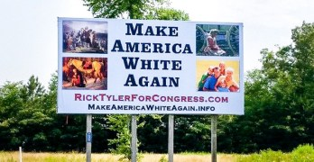 Tennessee candidate defends his sign: Make America White Again (VIDEO)