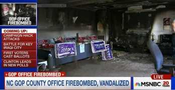 Republican North Carolina campaign office firebombed (VIDEO)