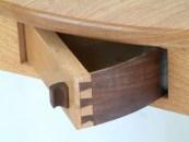 Handcut dovetail spin drawer....