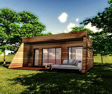 Casa modulara din lemn Social