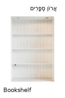 How to say bookshelf in Hebrew