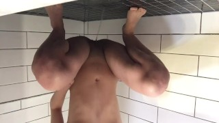 Pissing in my moms shower while she's in the next room