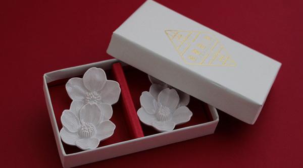 桜の箸置き 2個セット 英一郎