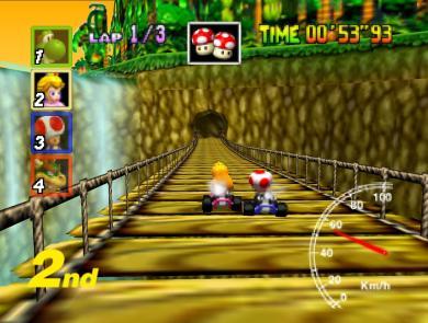 Mario Kart 64 2 1024x768 22 Years Of Mario kart Games   The Retrospective