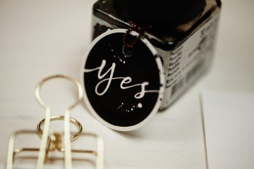 Hochzeitseinladung, Anhänger, Kalligrafie