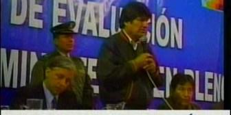 Tv especial. Los lamentos de Evo Morales