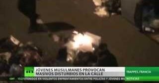 Francia: Jóvenes musulmanes protestan quemando autos y atacando a la Policía