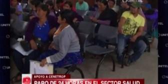 Santa Cruz: El sector salud lleva adelante paro de actividades en apoyo a Cenetrop
