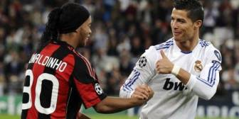 Ronaldinho y un desafío particular a Cristiano Ronaldo
