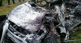 YPFB repara ducto pero identificación de cadáveres tardará; 3 ocupantes de la camioneta murieron calcinados