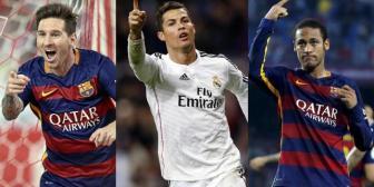 Messi, CR7 y Neymar son finalistas al Balón de Oro