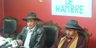 Polemizan por una 'mortadela' en huelga de Rafael Quispe