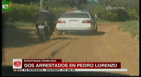 Detienen a dos sujetos por crimen en Pedro Lorenzo