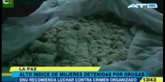 Bolivia tiene el más alto índice de mujeres detenidas por droga en Sudamérica