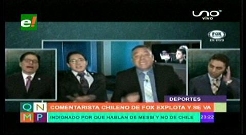 Comentarista chileno explota y se retira de programa en Fox Sport