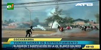 Enfrentamiento deja 9 heridos y 29 detenidos en jornada de paro