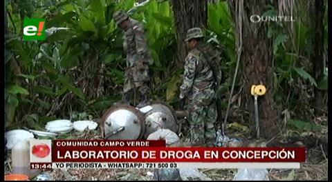 Felcn descubre laboratorio de cristalización de cocaína en Concepción