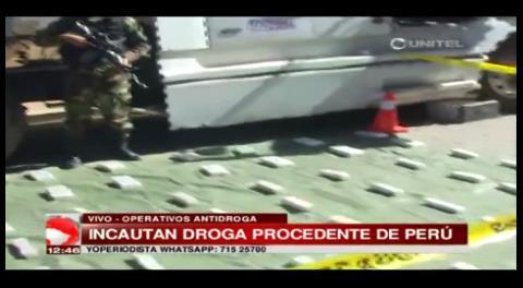 La Felcn incauta procedente del Perú durante operativos rutinarios en La Paz