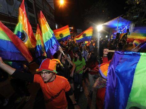 Marcha departamental de las diversidades sexuales y de género en La Paz el pasado año. Foto: José Lavayen
