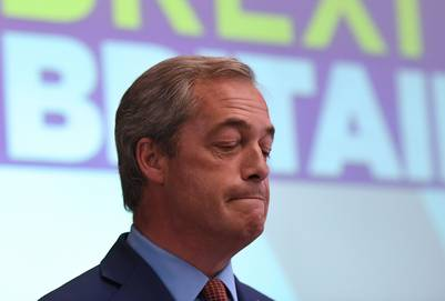 Nigel Farage, el líder de UKIP. / afp - BEN STANSALL