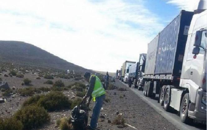 Transporte pesado alista marcha que pretende llegar hasta el consulado chileno
