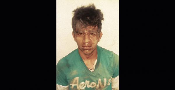 Wilmar Rodrigo Delgadillo, luego de caer en manos de unos vecinos