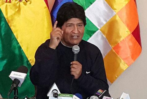 Morales en conferencia de prensa