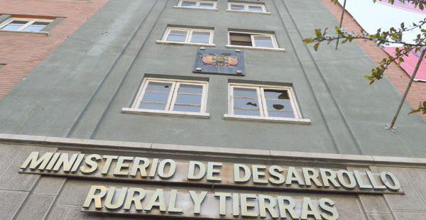 Oficinas del Ministerio de Desarrollo Rural y Tierras en la ciudad de La Paz